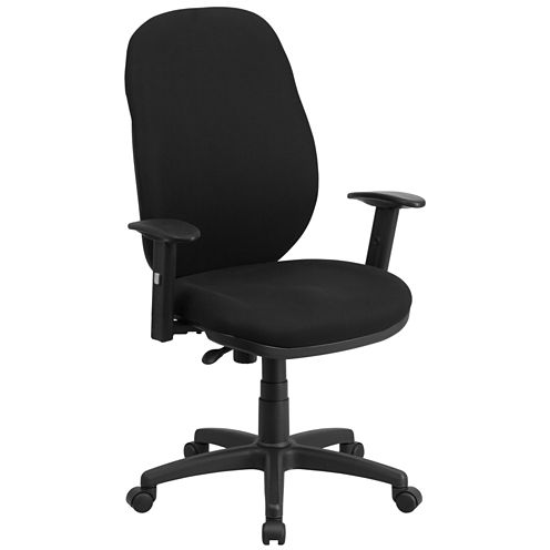 High Back Black Fabric Office Chair