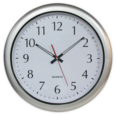 "jcpenney.com | Poolmaster® 16"" Outdoor Clock - Silver"