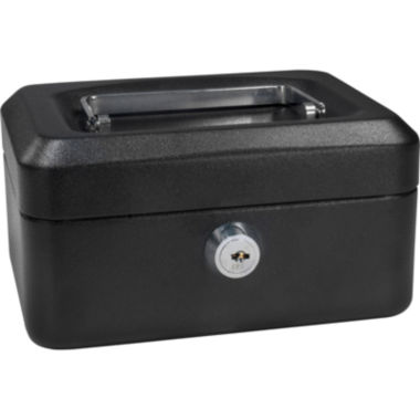 "jcpenney.com | Barska® 6"" Cash Box with Key Lock"
