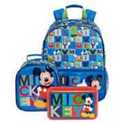 Disney® Mickey Backpack, Lunch Tote or Pencil Box