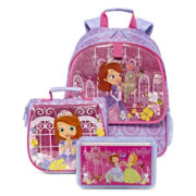 Disney® Sofia Backpack, Lunch Tote or Pencil Box