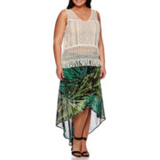 a.n.a® V-Neck Tank Top or Cross-Front Maxi Skirt - Plus