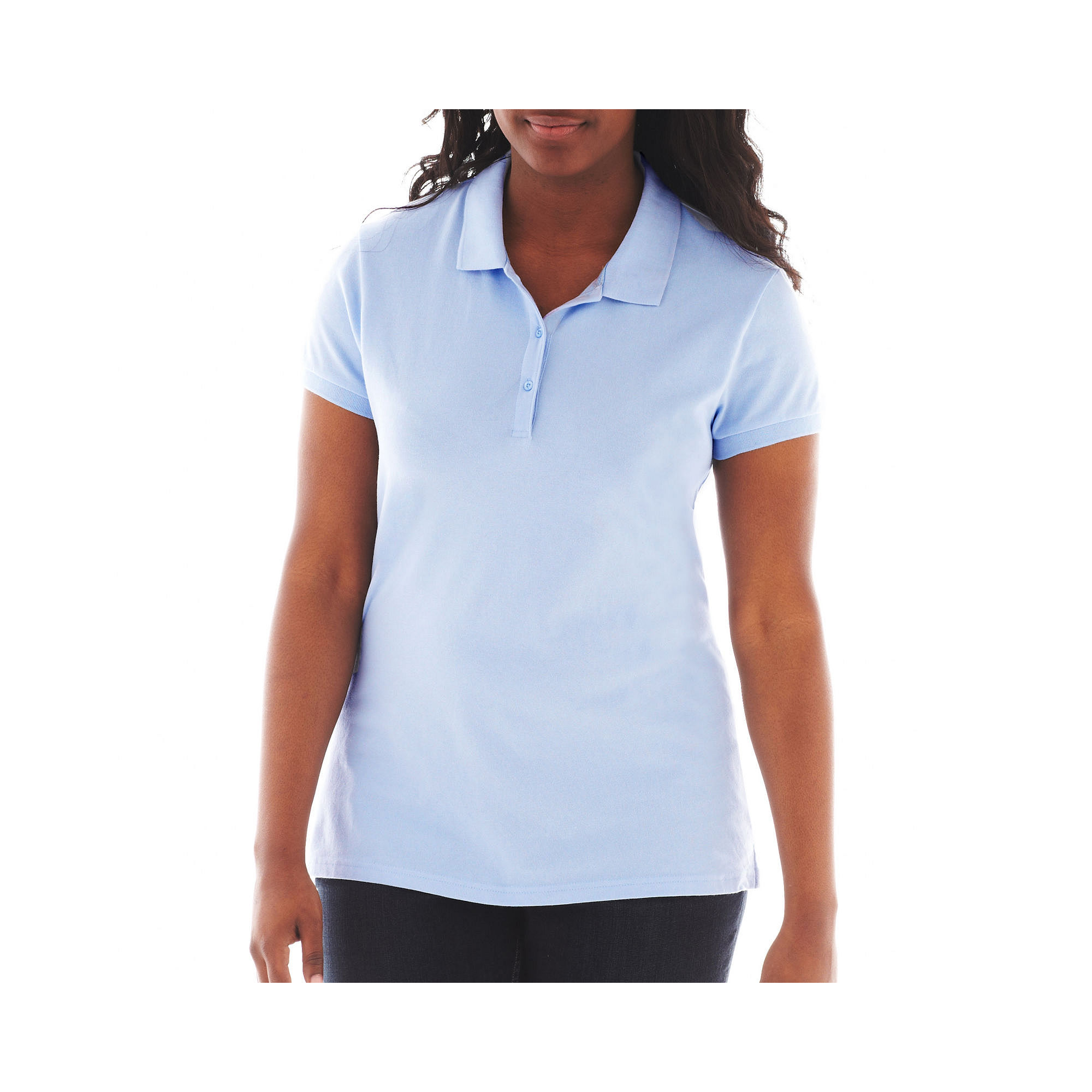Arizona Short-Sleeve Polo Shirt - Juniors Plus plus size,  plus size fashion plus size appare