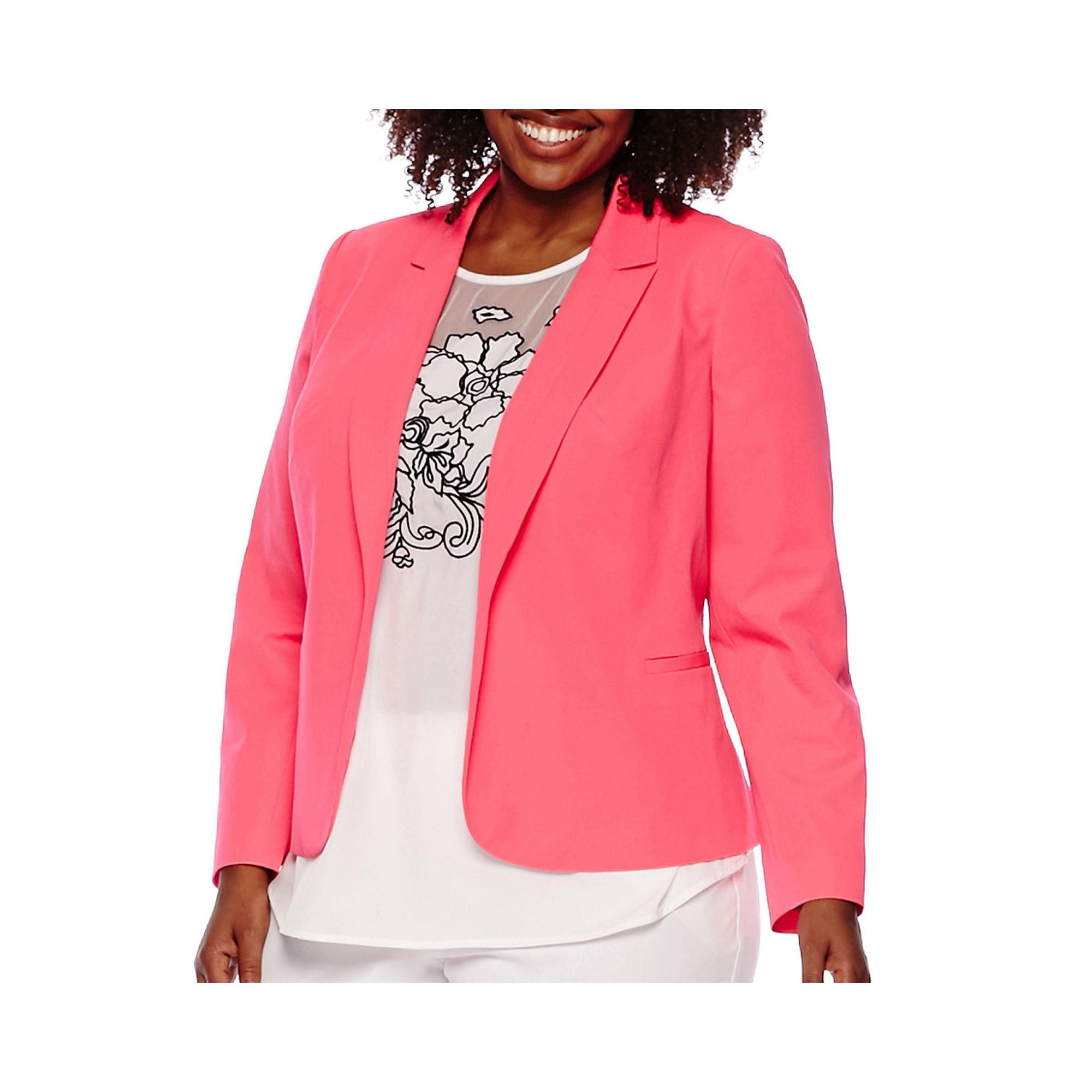 Worthington Long-Sleeve Open-Front Blazer - Plus plus size,  plus size fashion plus size appare