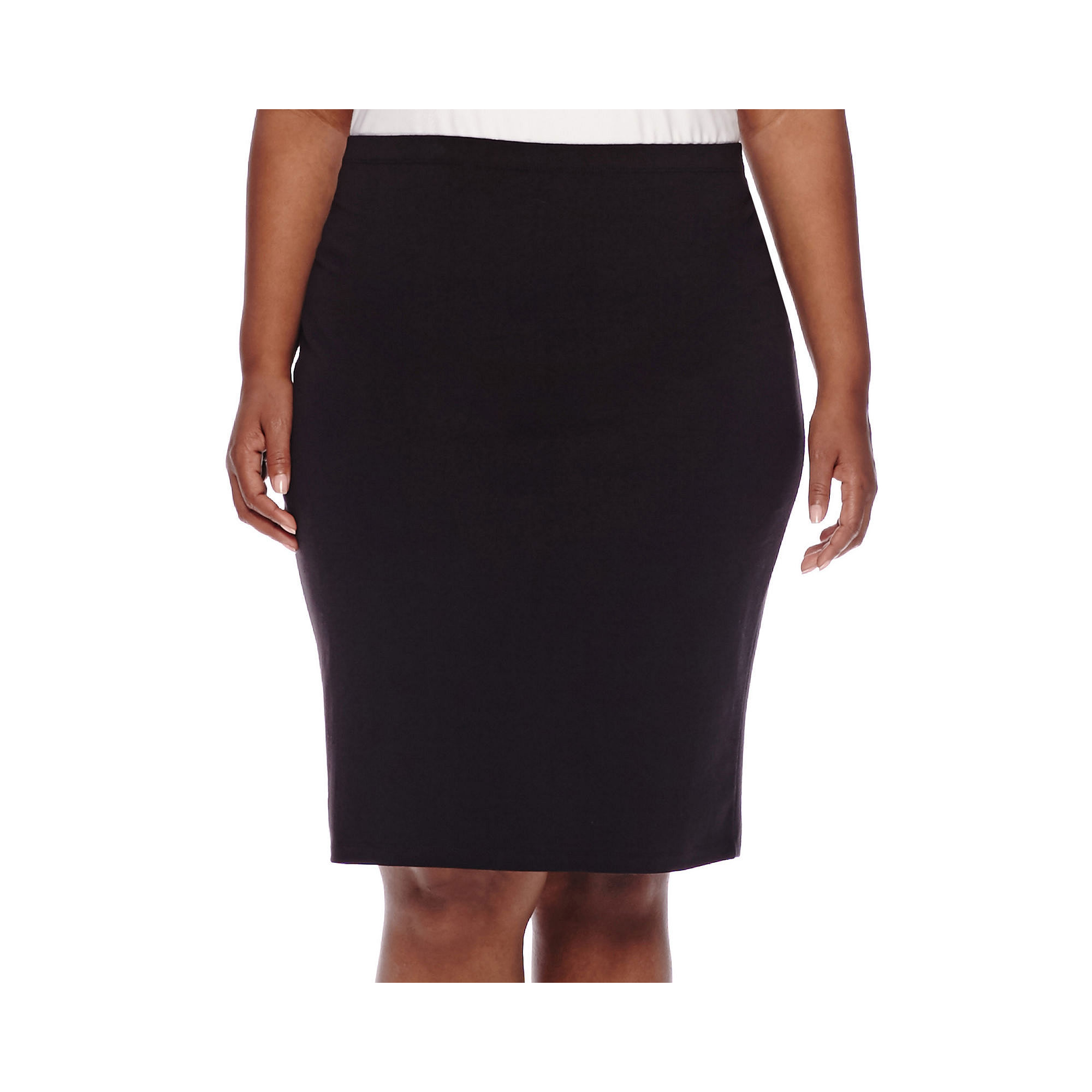 Decree Midi Bodycon Skirt - Juniors Plus plus size,  plus size fashion plus size appare