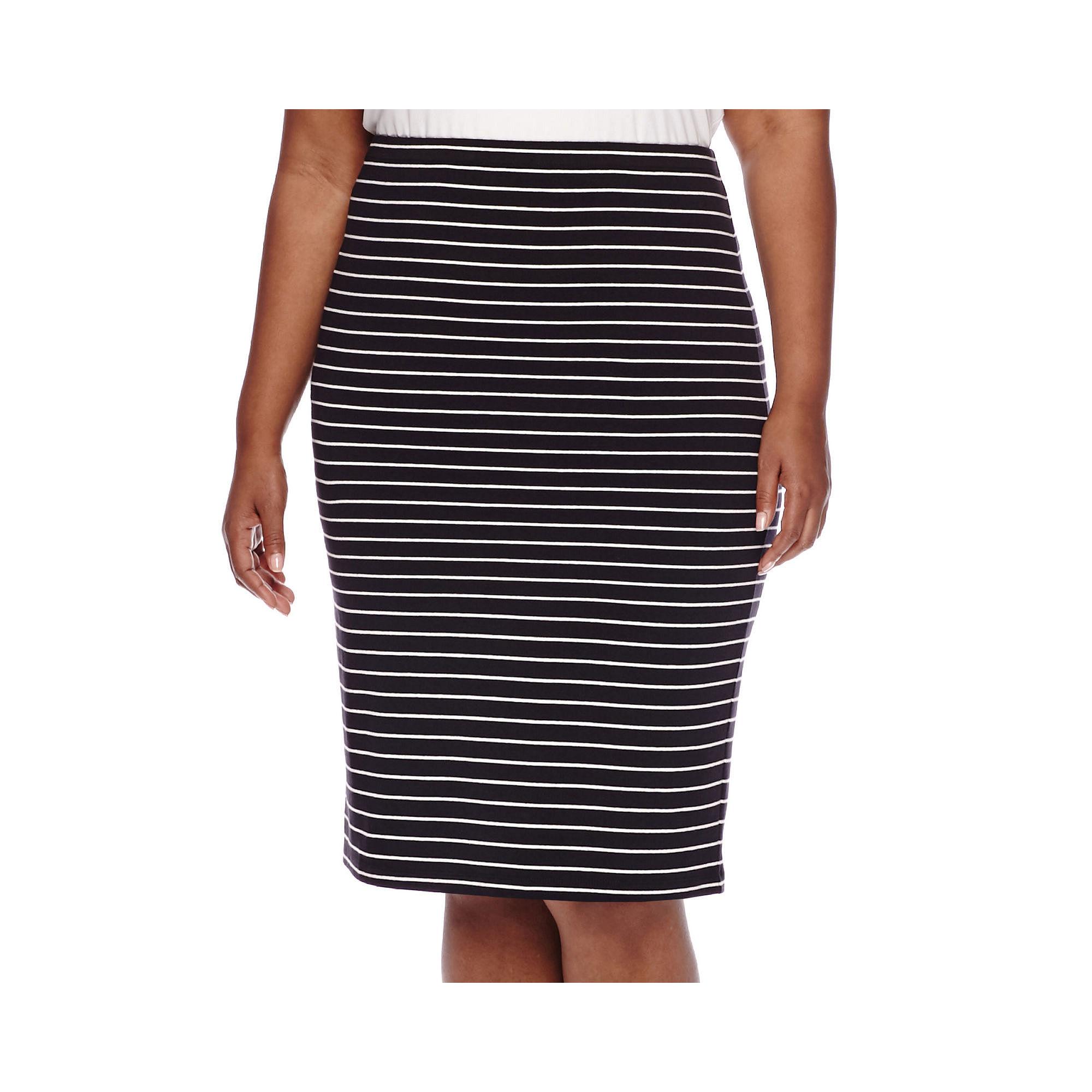 Decree Midi Bodycon Skirt - Juniors Plus plus size,  plus size fashion plus size appare