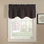 Taffeta Rod-Pocket Scalloped Valance