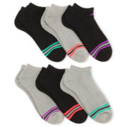 adidas® 6-pk. Striped No-Show Socks