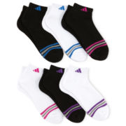 adidas® 6-pk. Striped Low-Cut Socks