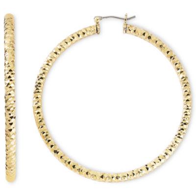 monet 174 gold tone large cut hoop earrings jcpenney