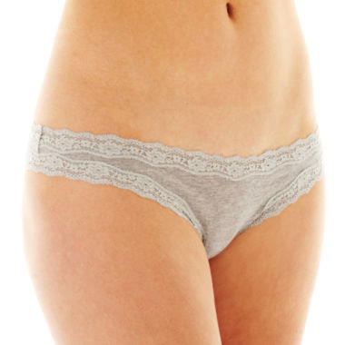 jcpenney.com | Flirtitude® Lace-Trim Thong Panties