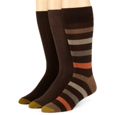 jcpenney.com | Gold Toe® 3-pk. Dress Stripe Socks