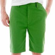 St. John's Bay® Flat-Front Shorts
