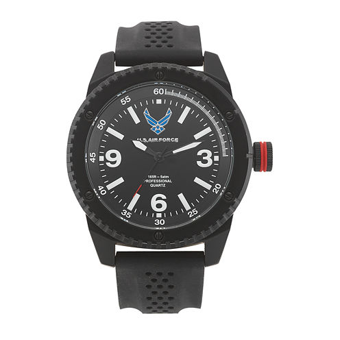 Wrist Armor® C20 US Air Force Mens Rubber Strap Watch