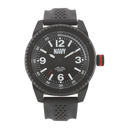Wrist Armor® US Navy Mens Rubber Strap Watch