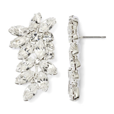 jcpenney.com | Vieste® Crystal Leafy Branch Cuff Earrings