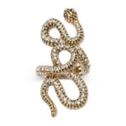 Decree® Gold-Tone Stretch Snake Ring