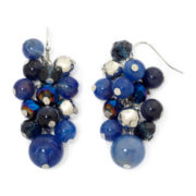 Mixit™ Silver-Tone Navy Cluster Earrings