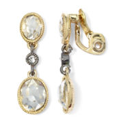 Monet® Two-Tone Crystal Double Drop Earrings