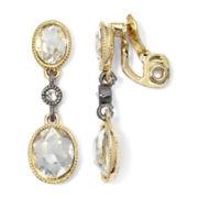 Monet® Two-Tone Crystal Double Drop Earrings