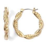 Monet® Gold-Tone Rope Hoop Earrings