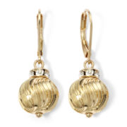 Monet® Gold-Tone Crystal and Metal Bead Drop Earrings