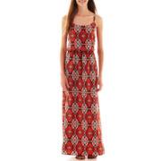 by&by® Sleeveless Print Maxi Dress