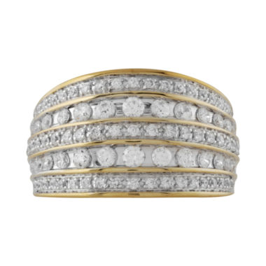 jcpenney.com | 1 CT. T.W. Diamond Two-Tone 10K Gold 5-Row Ring