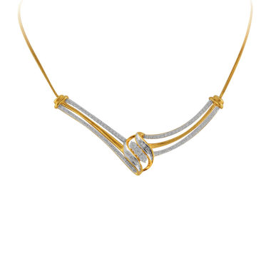 jcpenney.com | 1/2 CT. T.W. Diamond 10K Yellow Gold Curl Necklace