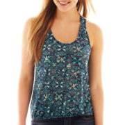 Self Esteem Crochet Racerback Tank Top
