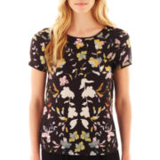MNG by Mango® Short-Sleeve Floral Blouse