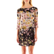 MNG by Mango® 3/4-Sleeve Floral Dress