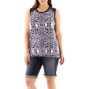 a.n.a® Mixed Lace Tank Top or Bermuda Shorts - Plus