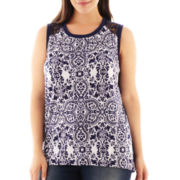 a.n.a® Mixed Lace Tank Top - Plus