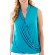 a.n.a® Knit Wrap Tank Top - Plus