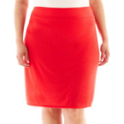 a.n.a® Wide Waistband Knit Skirt - Plus