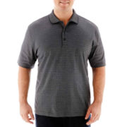 Van Heusen® Short-Sleeve Micropoly Polo Shirt-Big & Tall