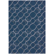 Nourison® Waves Hand-Carved Rectangular Rug