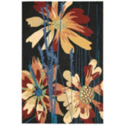 Nourison® Wild Flowers Hand-Hooked Indoor/Outdoor Rectangular Rugs