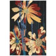 Nourison® Wild Flowers Hand-Hooked Indoor/Outdoor Rectangular Rug