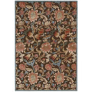 Nourison® Wilshire High-Low Carved Floral Rectangular Rugs