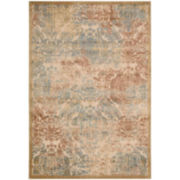 Nourison® Ancient Ruins High-Low Carved Rectangular Rug