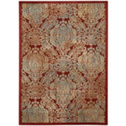 Nourison® Ancient Ruins High-Low Carved Rectangular Rugs