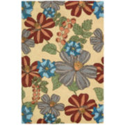 Nourison® Blooms Hand-Hooked Indoor/Outdoor Rectangular Rugs