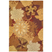 Nourison® Floral Bouquet Hand-Hooked Indoor/Outdoor Rectangular Rugs