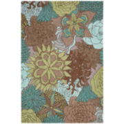 Nourison® Floral Bouquet Hand-Hooked Indoor/Outdoor Rectangular Rug