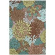 Nourison® Floral Bouquet Hand-Hooked Indoor/Outdoor Rectangular Rugs
