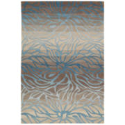 Nourison® Ombré Stream Hand-Carved Rectangular Rugs