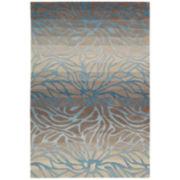 Nourison® Ombré Stream Hand-Carved Rectangular Rug