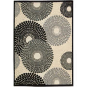 Nourison® Pinwheels High-Low Carved Rectangular Rugs